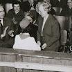 dan škole 1962 gosti Lepa Pijade Dejan Gavrć i direktor škole Jevrosima Gavrić.jpg